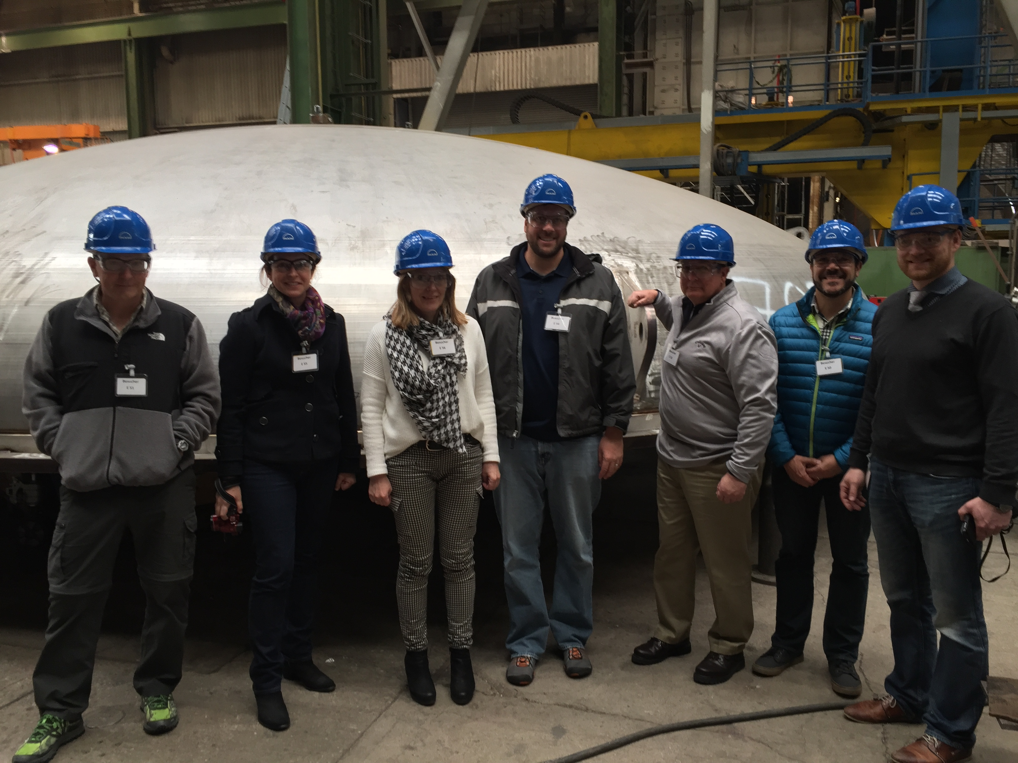 LSST team plus Von Ardenne representatives at the MAN facilities in Deggendorf with the Upper Chamber behind us.