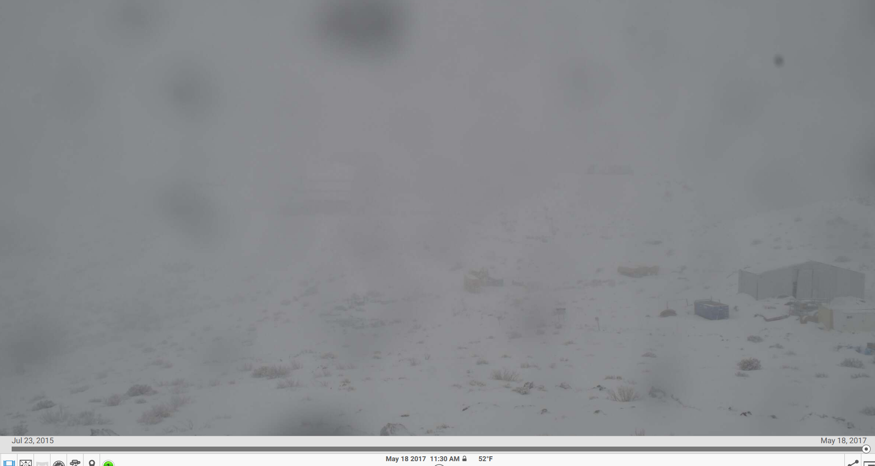 This photo was taken from the site webcam during one of the storms. Where's LSST?